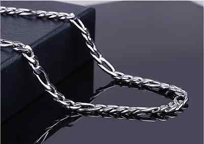 """6""""-14""""- 40""""316L Men's Women's Kids Stainless Steel Necklace Chain Figaro Chain"""