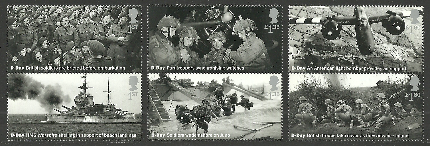 Gb 2019 D-Day Normandy Landings Military Ships Aircraft Tanks Set & M/Sheet Mnh 2
