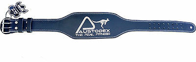 "Austodex Weight lifting bodybuilding back support weightlifting Leather Belt 6"" 6"