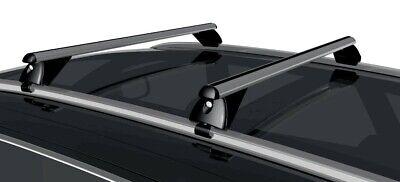 Alu Dachträger Tiger schwarz Dacia Lodgy ab 2012 für aufliegende Dachreling