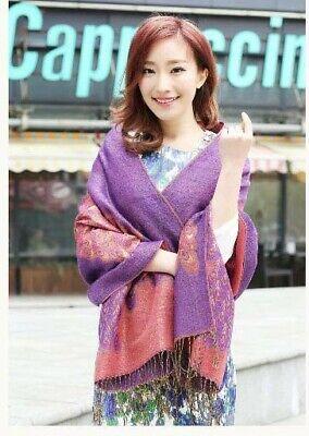 US SELLER- 20 Discount Scarves retro paisley peacock wholesale pashmina shawls 5