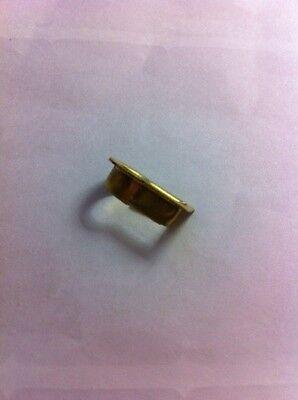 "B-3568Sb Solid Brass Fitted Keyhole Insert, I.d.:1/2' X 1/4"", O.d. 5/8"" X 3/8"" 2"