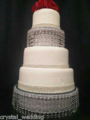 Crystal wedding cake stand & separator set -  round or square 12