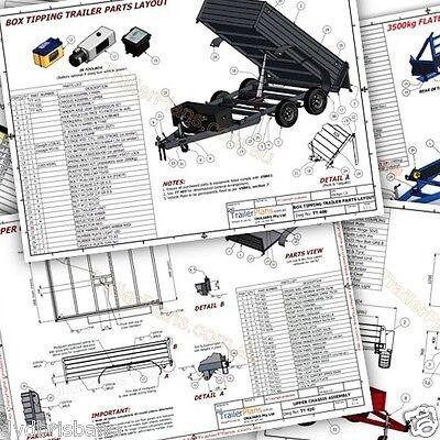 Trailer Plans    -    2500kg FLATBED CAR TRAILER PLANS    -    PRINTED HARDCOPY 10
