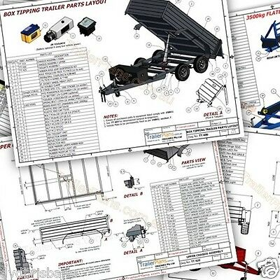 Trailer Plans- 4.8m FLAT TOP TRAILER PLANS- PRINTED HARDCOPY-Car Trailer,Flatbed 9