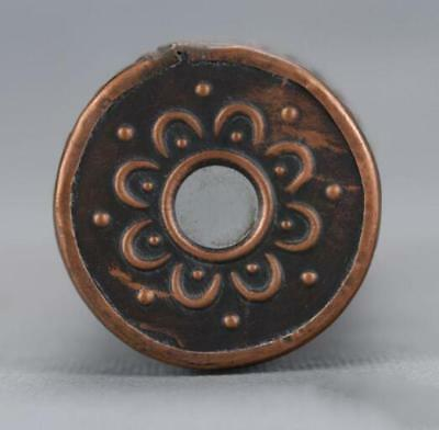 Chinese-antique-carved-flower-and-old-brass-kaleidoscope-High-grade-collectible 8