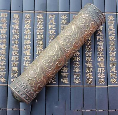 Chinese-antique-carved-flower-and-old-brass-kaleidoscope-High-grade-collectible 7