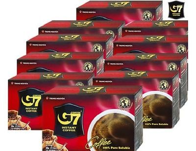 G7 Pure Black Instant Coffee 100 SACHETS Trung Nguyen Vietnamese Coffee 4