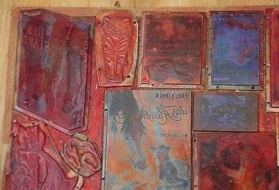 Konvolut Klischees Druckplatten original Druckerei letterpress printer's plates 2