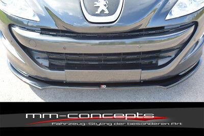 12-15  Front Spoiler Schwert CUP Spoilerlippe schwarz für Peugeot RCZ Bj