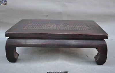 China Huanghuali wood carve Dragon beast Classical Furniture Side Table Tea Desk 5