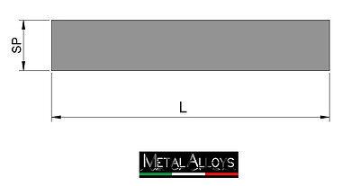 Barra Piatta Alluminio da 100 120 mm IN DIVERSE LUNGHEZZE E SP. ANTICORODAL6060