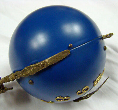 "22""H Cobalt Blue 4"" Ball 8 Day Swinger Movement Arm for Ansonia Swinging Clock 6"