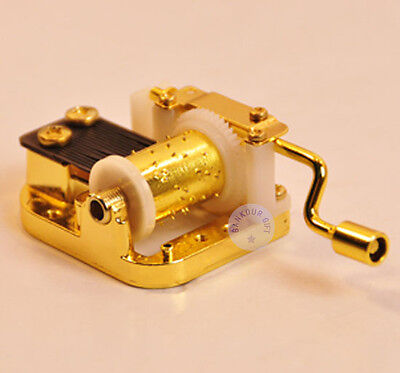 """Play /""""Beauty and the Beast/"""" Hand Crank Sankyo Musical Movement for DIY Music Box"""