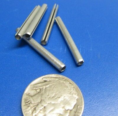 """Zinc Plate Steel Slotted Roll Spring Pin, 1/8"""" Dia x 1 1/4"""" Length, 200 pcs 4"""