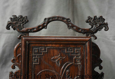 """11"""" Old China Huanghuali Wood Dynasty Portable Layer Drawer Jewelry Box Cabinet 2"""