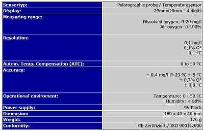 Sauerstoffmeßgerät/sauerstoffmessgerät Sauerstoff Messgerät O2 Aquarium Sa4 4