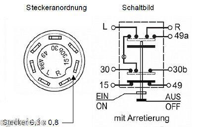 SCHALTER FÜR Warnblinker, Warnblinklicht beleuchtet, Druckschalter ...