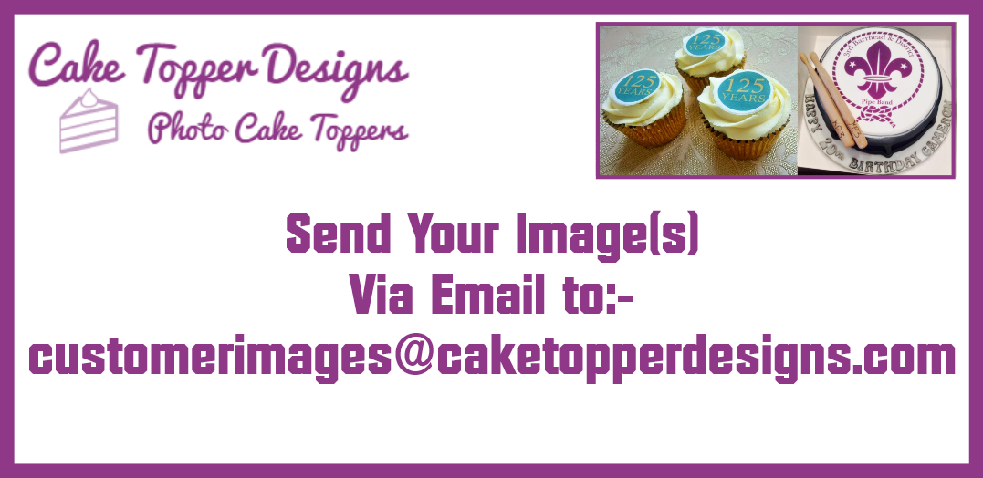 """YOUR OWN PERSONALISED PHOTO MESSAGE EDIBLECAKE TOPPER FOR A4 Size (10"""" x 7.5"""") 3"""