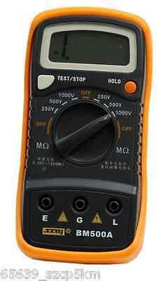 Resistance Tester BM500A 1000V 1999M Digital Insulation Meter Megohmmeter Megger 2
