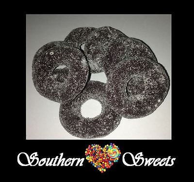 Aniseed Rings Hoops 1Kg Black Lollies Bulk Candy Buffet Bulk 2