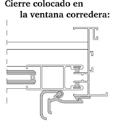 Cierre De Ventana Corredera Modelo A Para Superficie Aluminio Manilla, Recambios 3