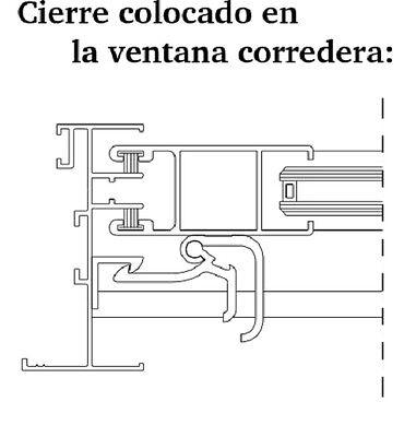 Cierre De Ventana Corredera Modelo B Para Superficie Aluminio Manilla, Recambios 3