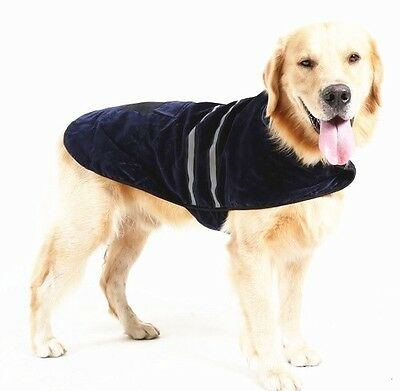 Reflective Fleece warm pet DOG Coat Winter Jacket Clothes Sweater 2