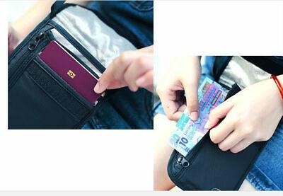 RFID Blocking Neck Stash Passport Card Wallet Holder Pouch Security Travel Bag 5