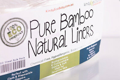 1320 Bamboo Flushable, Diaper Nappy Liners, Natural, Disposable 6 Rolls 10