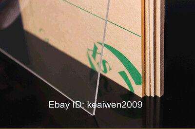 2pcs 300x300x8mm Clear Acrylic Plexiglass Sheet Plastic Panel Perspex PMMA Plate