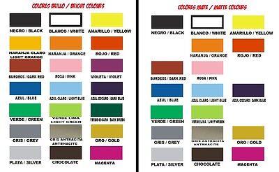 Vinilo pegatina adhesivo vinyl varios tamaños y colores a granel (ENVIO 24/48h.)