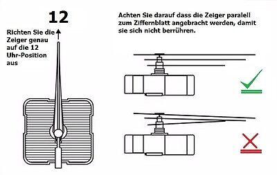 Quarzuhrwerk kein Ticken lautlos kurz oder lang Uhrwerk mit Zeiger nach wahl 1 - 4