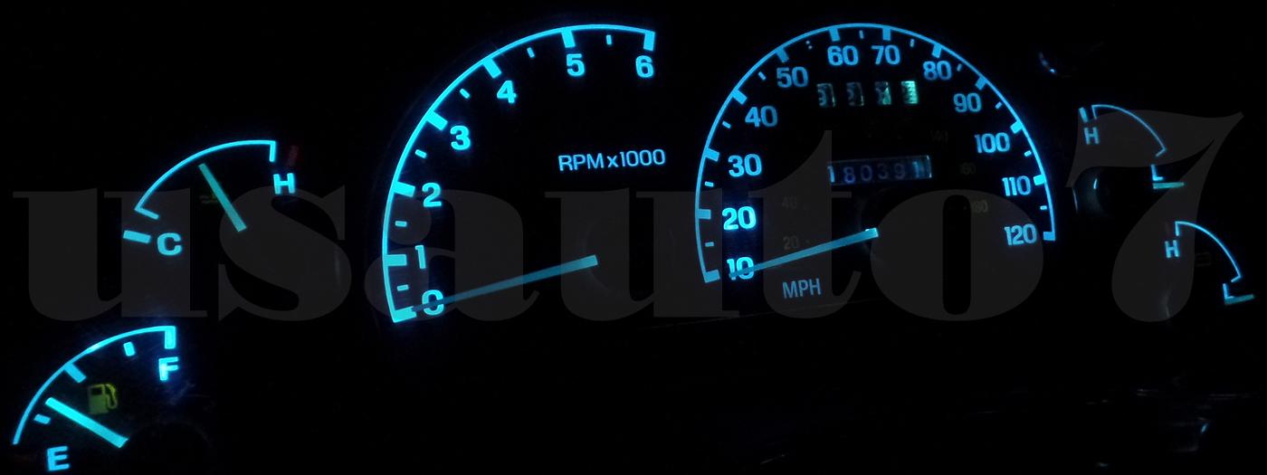 Dash Instrument Cer Gauge Ice Aqua Blue Led Light Kit Fits 95 03 Ford Ranger 4 Of See More