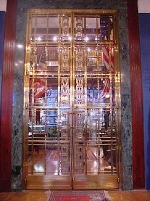 1928 Art Deco American Brass Co. Doors Monumental Architectural Masterpiece 6