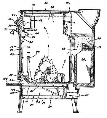 Holzofen Selbst Bauen Holz Ofen Technik Patente Patentschriften