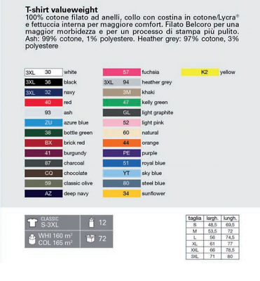 T-Shirt Uomo - Donna unisex Fruit Of The Loom -  Maglietta manica corta Cotone 2