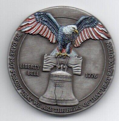 LIBERTY Bell Silver Coin Eagle Anchor Snake 3D Antique Americana Pennsylvania US 6