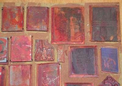 Konvolut Klischees Druckplatten Druckerei Drucken letterpress printer's plates 3