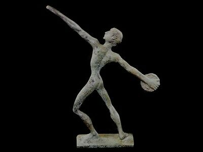 Discus Thrower Athlete Small Bronze Statue - Ancient Greece  - Discobolus 5