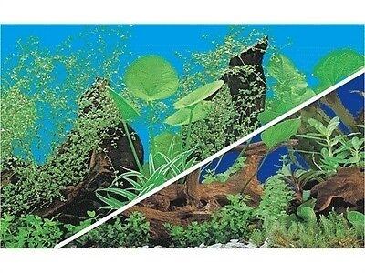 poster fond d aquarium decors plantes double faces  80x 50 cm de hauteur 2