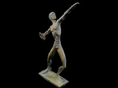 Discus Thrower Athlete Small Bronze Statue - Ancient Greece  - Discobolus 4