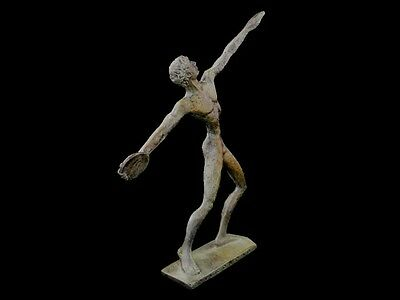 Discus Thrower Athlete Small Bronze Statue - Ancient Greece  - Discobolus 2