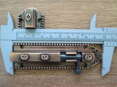 Vintage Retro Lock tool Slide Latch Window Bolt Door Hasp iron Rustic Long 4 in 2