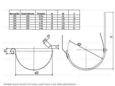 NW33 6tlg//333 Dachrinnenverbinder Rinnenverbinder Dachrinne
