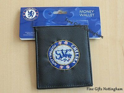 Black Leather FC Football Club Wallets Embroidered Club Crest 3