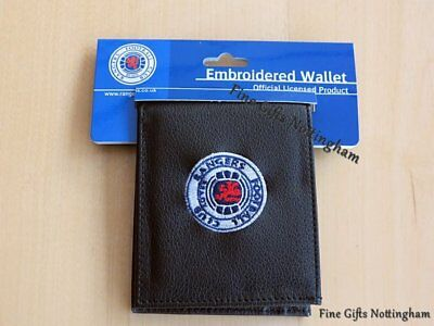 Black Leather FC Football Club Wallets Embroidered Club Crest 6