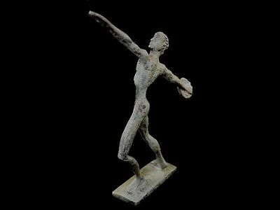 Discus Thrower Athlete Small Bronze Statue - Ancient Greece  - Discobolus 3