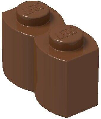 Lego Reddish Brown Modified Brick 1x2 10 pieces NEW!!! 30136