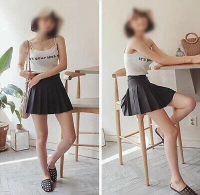 Girls School Uniform Skater Skirt Kids High Waist Pleated Skirt Tennis for Women 6